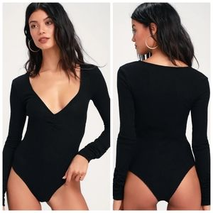 Free people cozy up with me ribbed bodysuit sz S